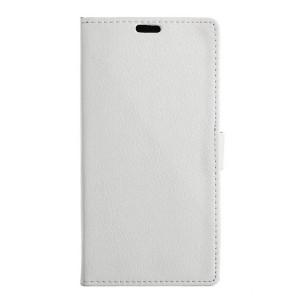 LG K10 4G - etui na telefon i dokumenty - białe