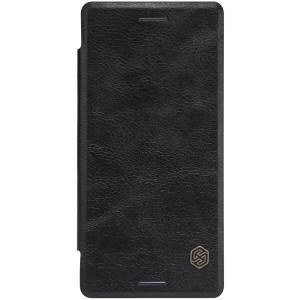 Sony Xperia X - etui na telefon i dokumenty - Nillkin Qin czarne