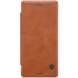 Sony Xperia X - etui na telefon i dokumenty - Nillkin Qin brązowe