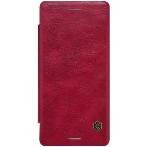 Sony Xperia X - etui na telefon i dokumenty - Nillkin Qin czerwone