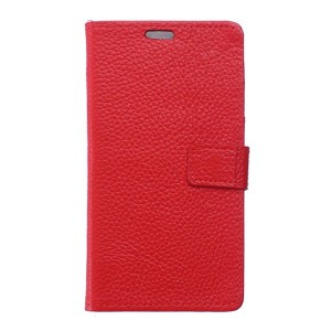 Sony Xperia X - etui na telefon i dokumenty - czerwone