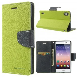 Huawei Ascend P7 - etui na telefon i dokumenty - Fancy zielone