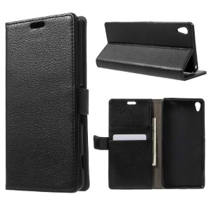 Sony Xperia XA - etui na telefon i dokumenty - czarne