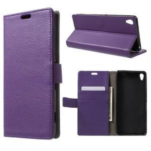 Sony Xperia XA - etui na telefon i dokumenty - purpurowe