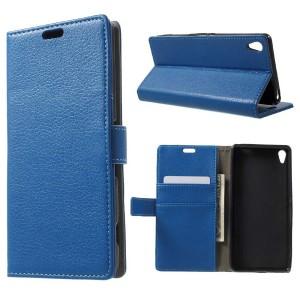 Sony Xperia XA - etui na telefon i dokumenty - niebieskie