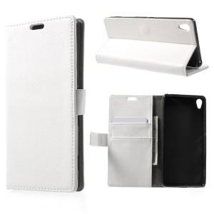 Sony Xperia XA - etui na telefon i dokumenty - białe
