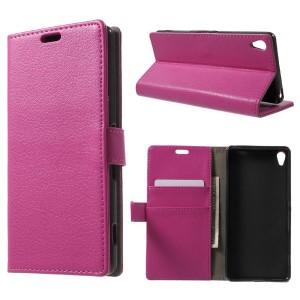 Sony Xperia XA - etui na telefon i dokumenty - różowe