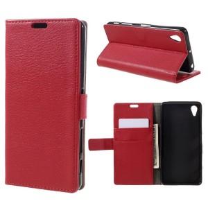 Sony Xperia X Performance - etui na telefon i dokumenty - czerwone