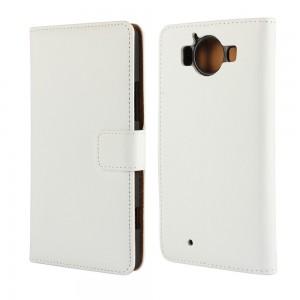 Microsoft Lumia 950 - etui na telefon i dokumenty - białe
