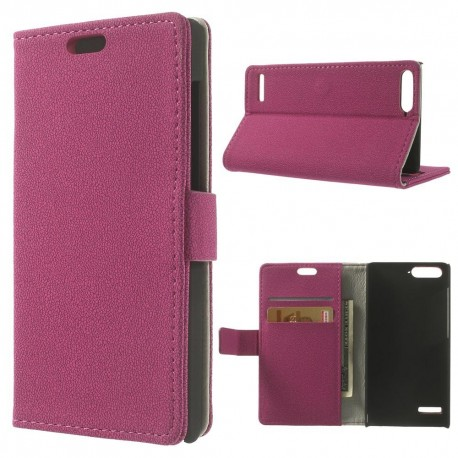 Huawei Ascend P7 Mini - etui na telefon i dokumenty - GG różowe