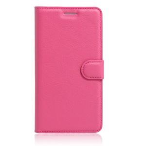 Huawei Honor 8 - etui na telefon i dokumenty - Ciemnoróżowe