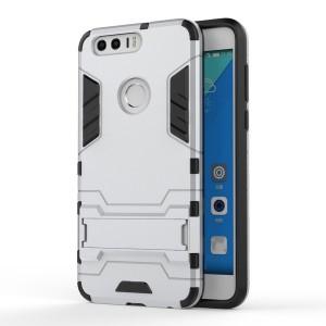Huawei Honor 8 - etui na telefon - Dwuczęściowe Srebrne