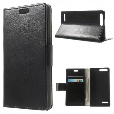 Huawei Ascend G6 4G - etui na telefon i dokumenty - CH czarne