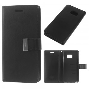 Samsung Galaxy Note 7 - etui na telefon i dokumenty - Rich Diary Czarne