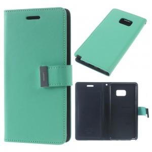 Samsung Galaxy Note 7 - etui na telefon i dokumenty - Rich Diary Cyjan