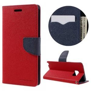 Samsung Galaxy Note 7 - etui na telefon i dokumenty - Fancy Czerwone