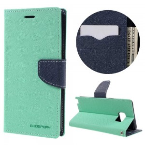 Samsung Galaxy Note 7 - etui na telefon i dokumenty - Fancy Cyjan