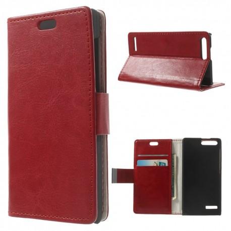 Huawei Ascend G6 4G - etui na telefon i dokumenty - CH czerwone