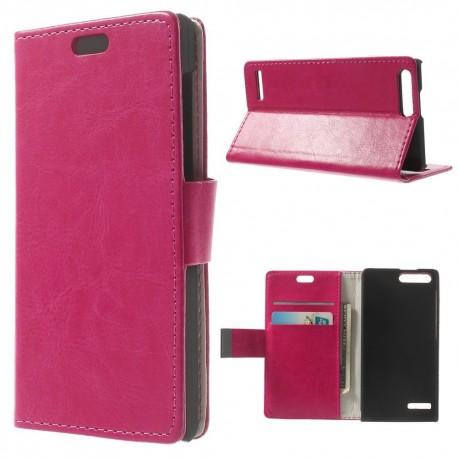 Huawei Ascend G6 4G - etui na telefon i dokumenty - CH różowe