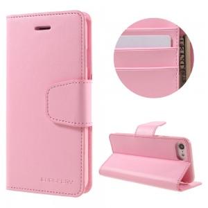 Apple iPhone 7 - etui na telefon i dokumenty - Sonata Różowe