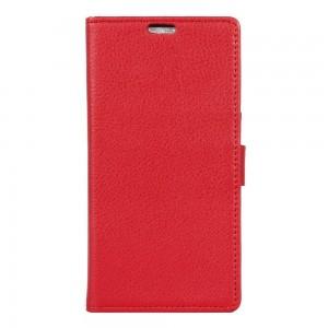 Motorola Moto G4 Play - etui na telefon i dokumenty - Litchi Czerwone