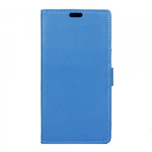 Motorola Moto G4 Play - etui na telefon i dokumenty - Litchi Niebieskie