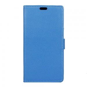 Lenovo C2 Power - etui na telefon i dokumenty - Litchi Niebieskie
