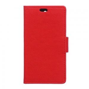 Lenovo K5 - etui na telefon i dokumenty - Litchi Czerwone