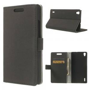 Huawei Ascend P7 - etui na telefon i dokumenty - GG czarne