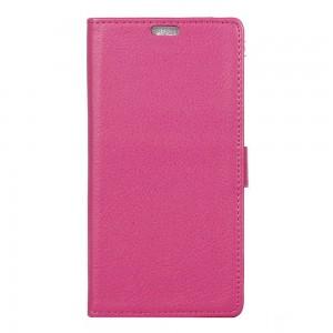 Huawei Y5 II - etui na telefon i dokumenty - Litchi Różowe