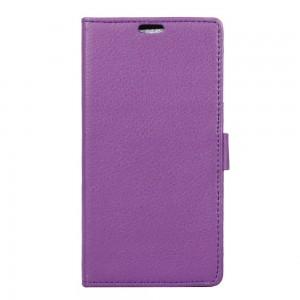 Huawei Y5 II - etui na telefon i dokumenty - Litchi Purpurowe