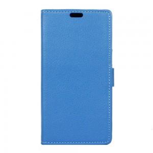 Huawei Y5 II - etui na telefon i dokumenty - Litchi Niebieskie