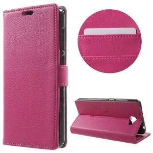 Huawei Y6 II Compact - etui na telefon i dokumenty - Litchi Różowe