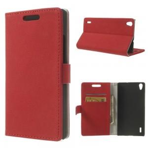 Huawei Ascend P7 - etui na telefon i dokumenty - GG czerwone