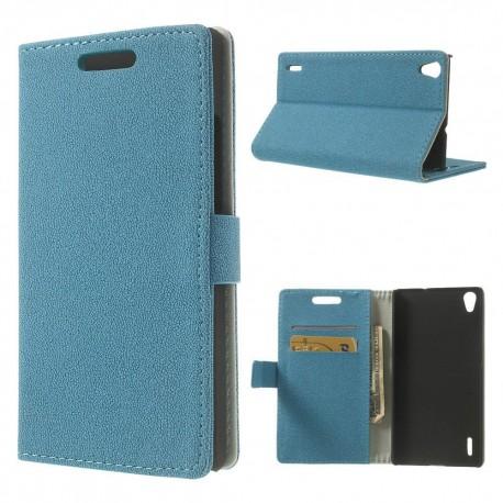 Huawei Ascend P7 - etui na telefon i dokumenty - GG niebieskie