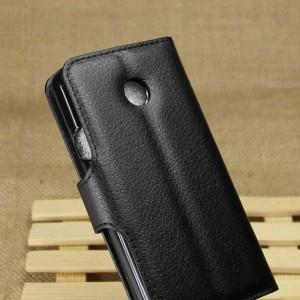 Huawei Ascend Y330 - etui na telefon i dokumenty - Litchi czarne