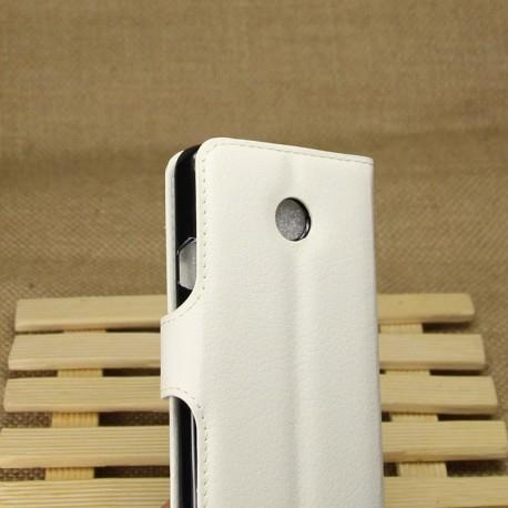 Huawei Ascend Y330 - etui na telefon i dokumenty - Litchi białe