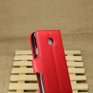 Huawei Ascend Y330 - etui na telefon i dokumenty - Litchi czerwone
