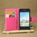 Huawei Ascend Y330 Portfel Etui – Litchi Różowy