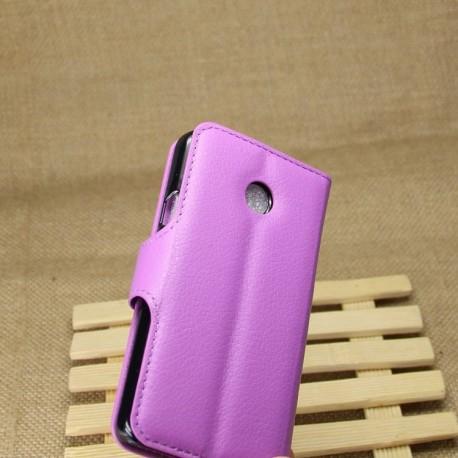 Huawei Ascend Y330 - etui na telefon i dokumenty - Litchi purpurowe