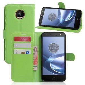 Motorola Moto Z Play - etui na telefon i dokumenty - Zielone