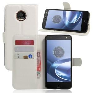 Motorola Moto Z Play - etui na telefon i dokumenty - Białe