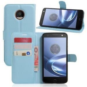 Motorola Moto Z Play - etui na telefon i dokumenty - Niebieskie
