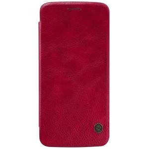 Motorola Moto Z - etui na telefon - Nillkin Qin Czerwone