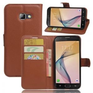 Samsung Galaxy A5 (2017) - etui na telefon i dokumenty - Brązowe
