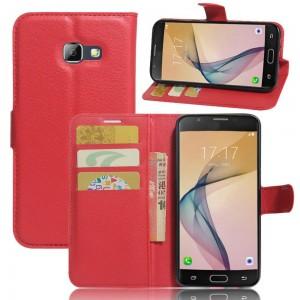 Samsung Galaxy A5 (2017) - etui na telefon i dokumenty - czerwone