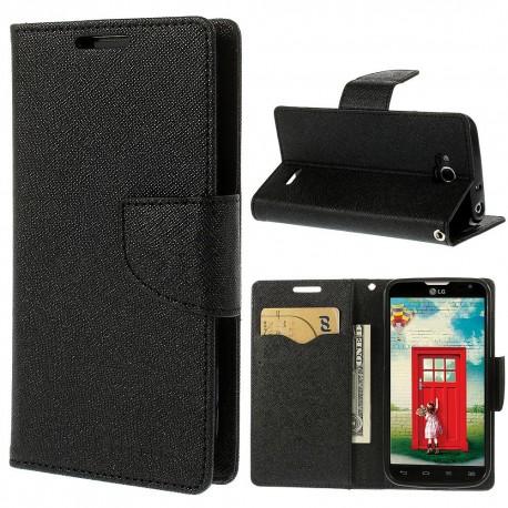 LG L90 - etui na telefon i dokumenty - Fancy czarne