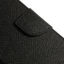 LG L90 Black Mercury Fancy Diary Wallet Case