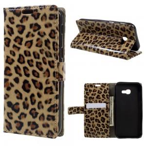 Samsung Galaxy A3 (2017) - etui na telefon i dokumenty - Litchi leopard