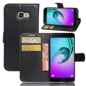 Samsung Galaxy A3 (2017) - etui na telefon i dokumenty - Czarne